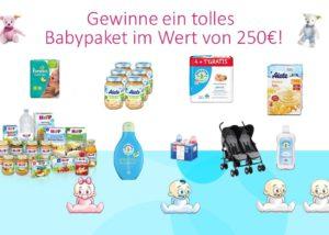 Gewinn' jetzt das 250€ Babypaket gefüllt mit tollen Babyprodukten