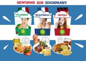Ob italienische, französische oder deutsche Küche. Du hast die Wahl!