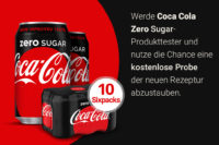 Coca-Cola Zero Sugar - jetzt kostenlos Produkt testen