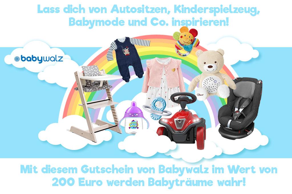 Mit diesem Gutschein von Babywalz im Wert von 200€ werden Babyträume wahr!