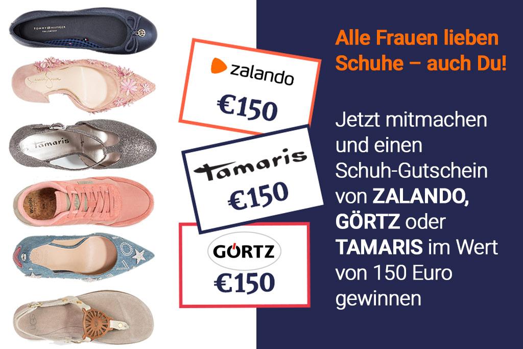 Wir unterstützen Deiner Schuh-Sucht und spendieren Dir Dein nächstes Paar!