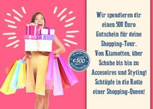 Wir bezahlen Deine nächste Shoppingtour! Mach jetzt mit!